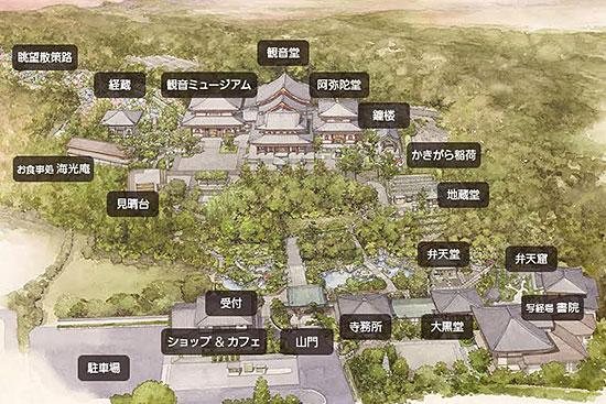 長谷寺・境内図