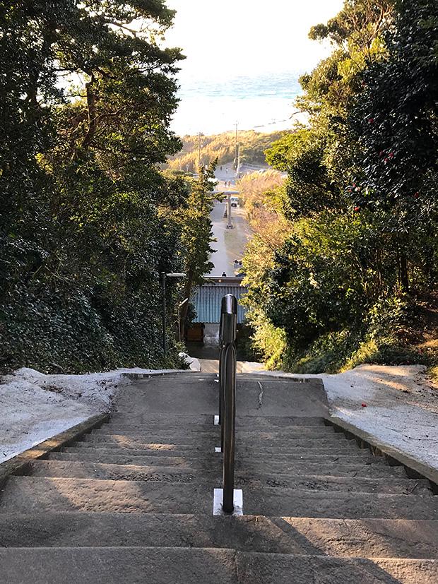 洲崎神社の階段からの眺め