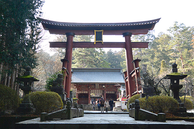 北口本宮冨士浅間神社の木造大鳥居