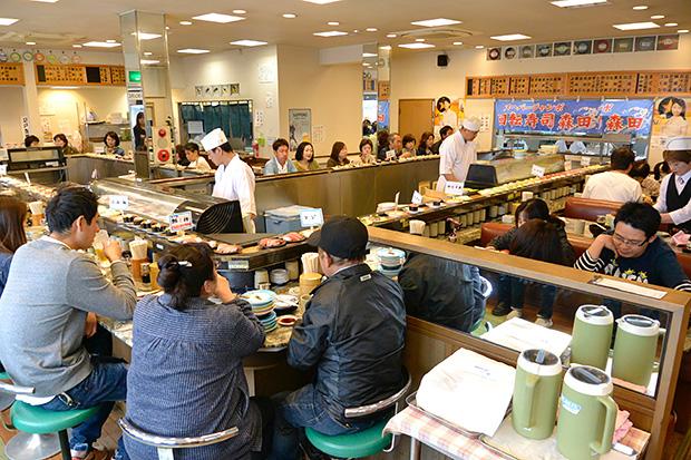 那珂湊海鮮市場・回転寿司
