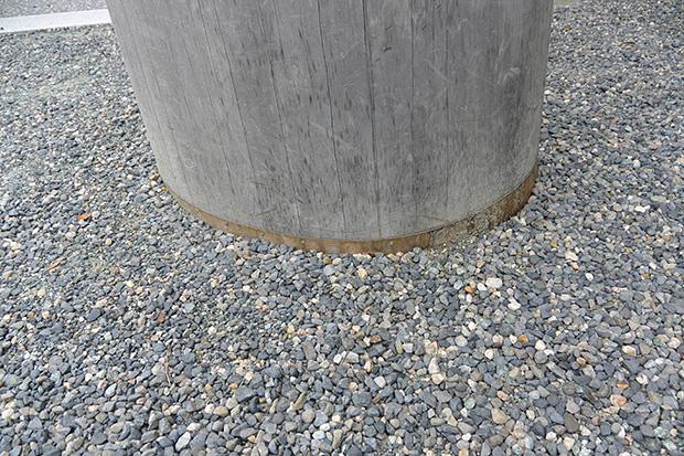 宇治橋の鳥居、地下の銅