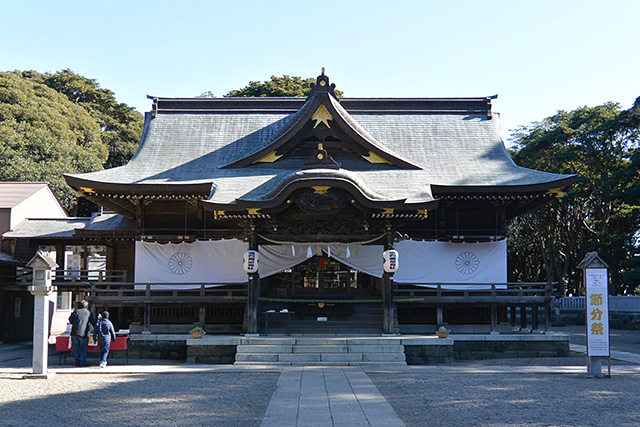 酒列磯前神社の拝殿