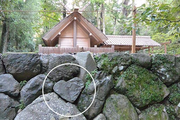 風宮の石垣のハート石