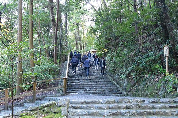 多賀宮への階段
