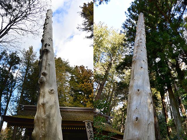 下社春宮・第一と第二の御柱