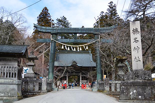 榛名神社・鳥居から随神門