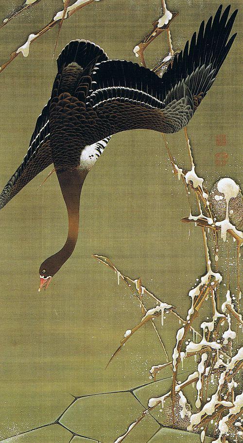 伊藤若冲『芦雁図』18世紀